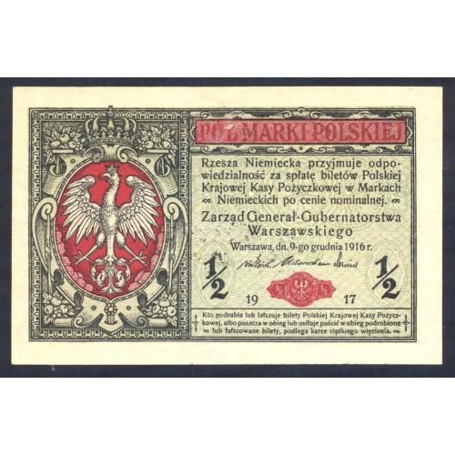 POLAND 1/2 Marki 1917