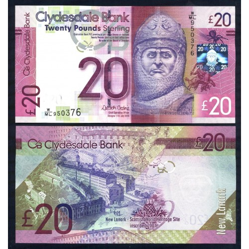 SCOTLAND 20 Pounds 2015