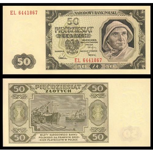 POLAND 50 Zlotych 1948