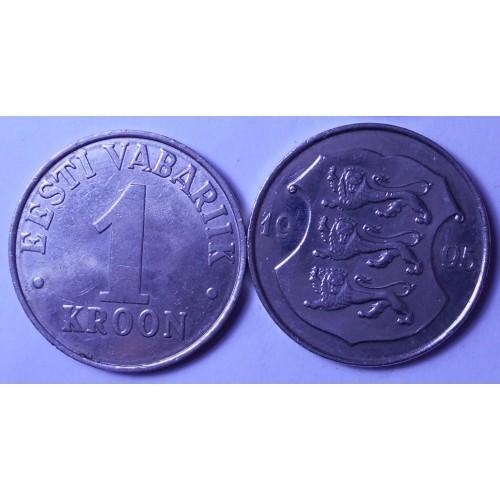 ESTONIA 1 Kroon 1995