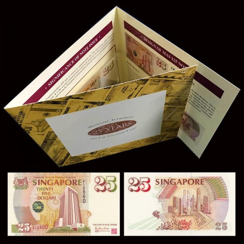 SINGAPORE 25 Dollars 1996...