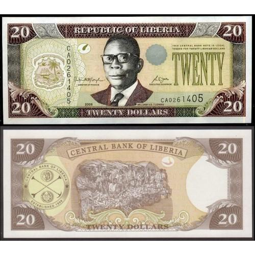 LIBERIA 20 Dollars 2006