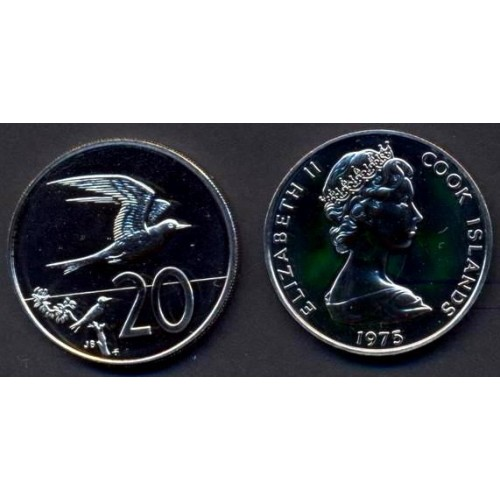 COOK ISLANDS 20 Cents 1975...