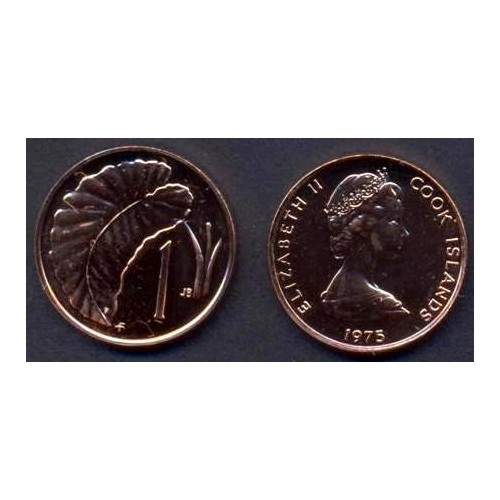 COOK ISLANDS 1 Cent 1975 Proof