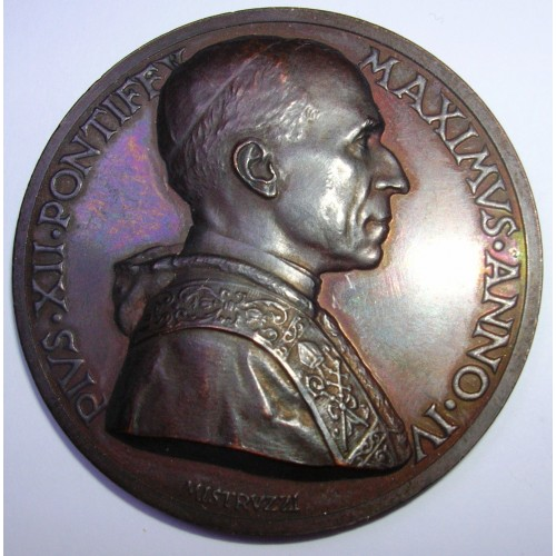 MEDAGLIA PIO XII ANNO IV AE...