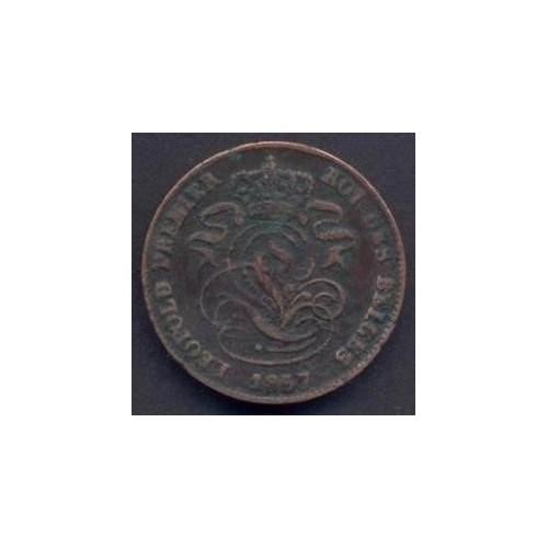 BELGIUM 2 Centimes 1857