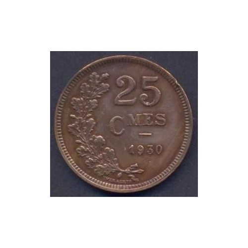 LUXEMBOURG 25 Centimes 1930