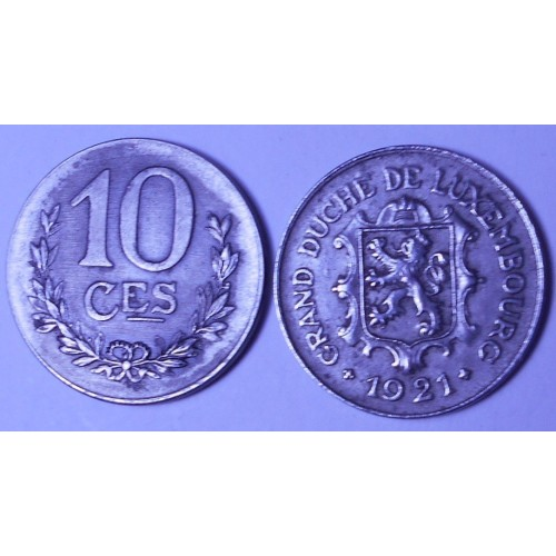 LUXEMBOURG 10 Centimes 1921