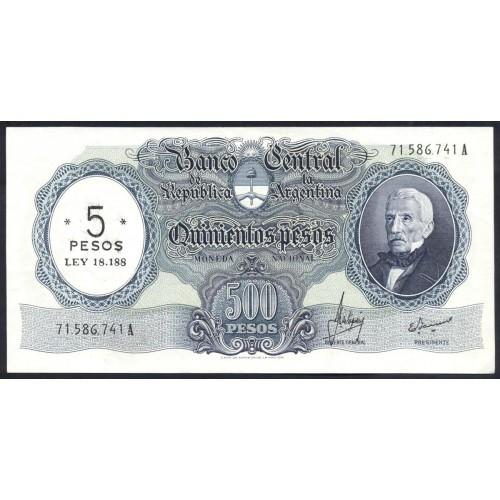 ARGENTINA 5 Pesos 1969