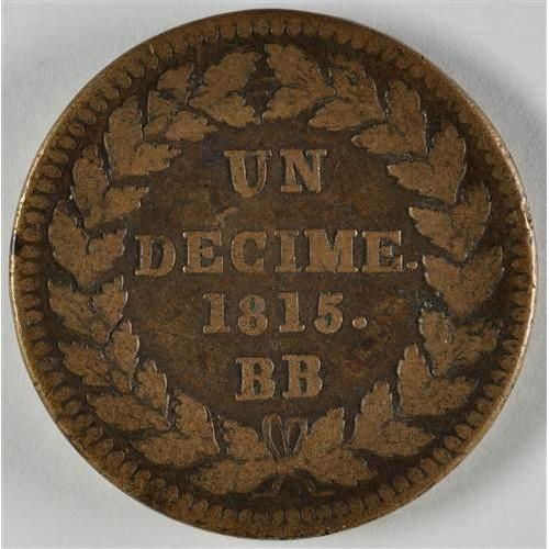 FRANCE 1 Decime 1815 BB