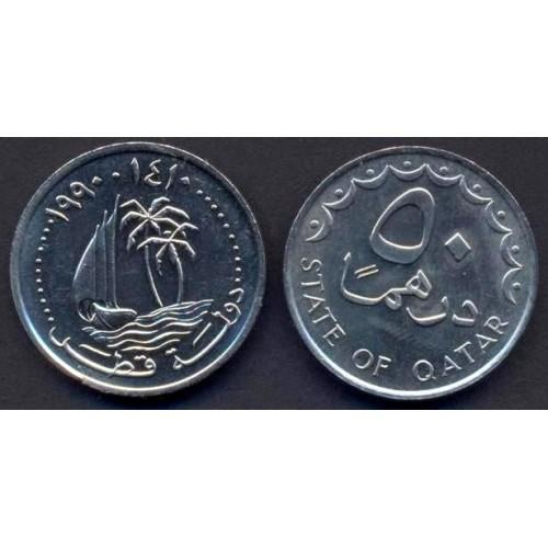 QATAR 50 Dirhams 1990