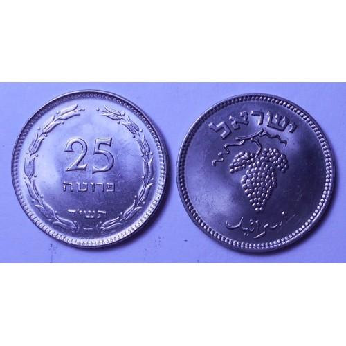 ISRAEL 25 Pruta 1954