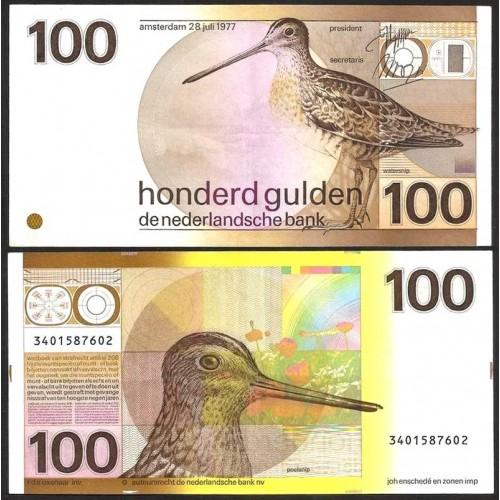 NETHERLANDS 100 Gulden 1977