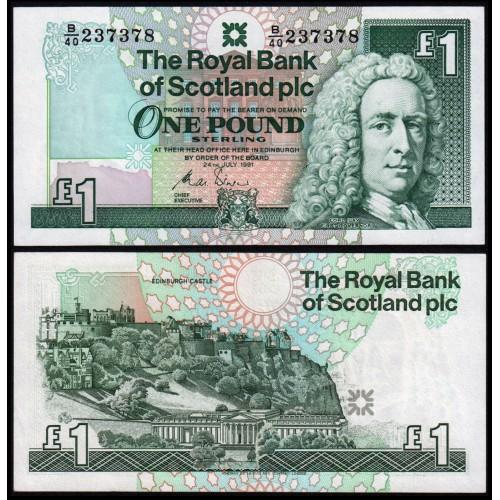 SCOTLAND 1 Pound 1991