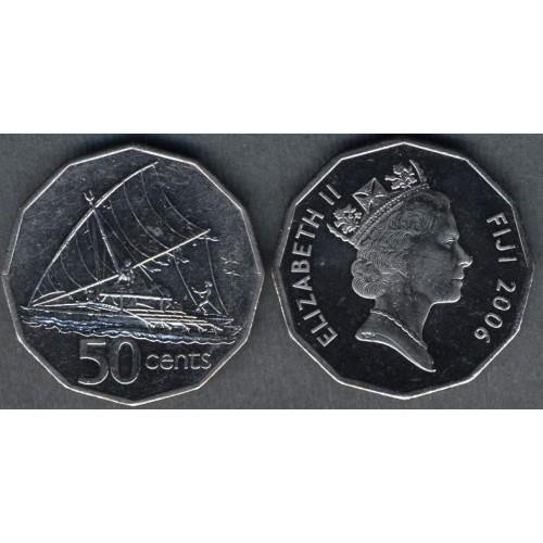 FIJI 50 Cents 2006 Sailing...