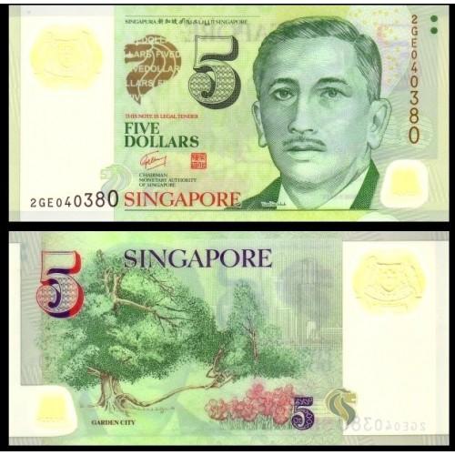SINGAPORE 5 Dollars 2007...