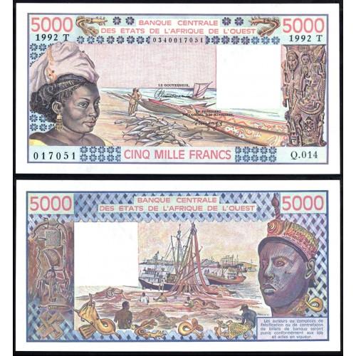 TOGO (W.A.S.) 5000 Francs 1992
