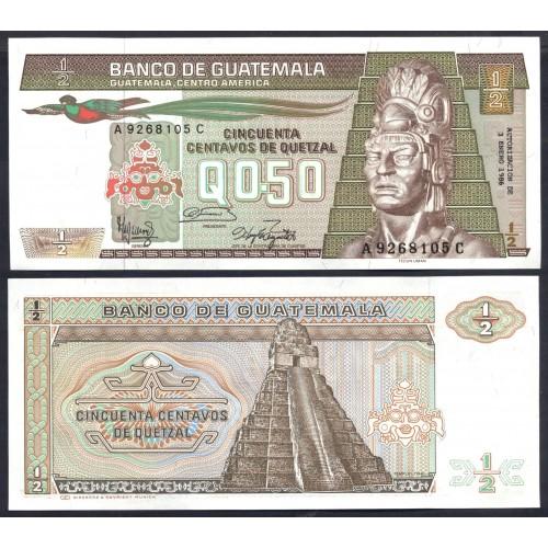 GUATEMALA 1/2 Quetzal 1986