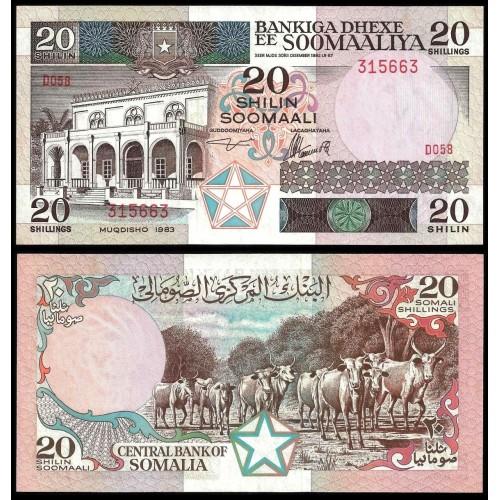 SOMALIA 20 Shillings 1983