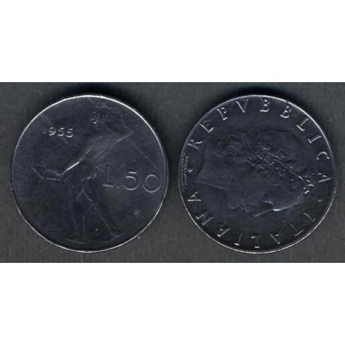 50 Lire 1955 Rovescio...