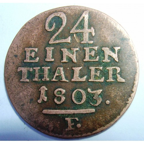 HESSE CASSEL 1/24 Thaler...