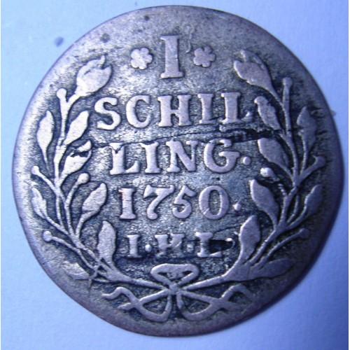 HAMBURG 1 Schilling 1750 AG