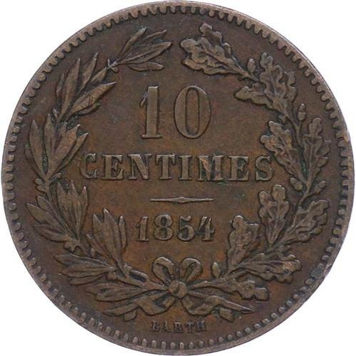 LUXEMBOURG 10 Centimes 1854