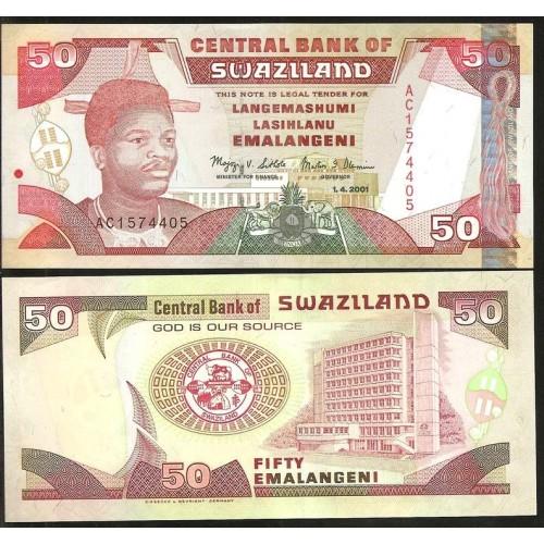 SWAZILAND 50 Emalangeni 2001