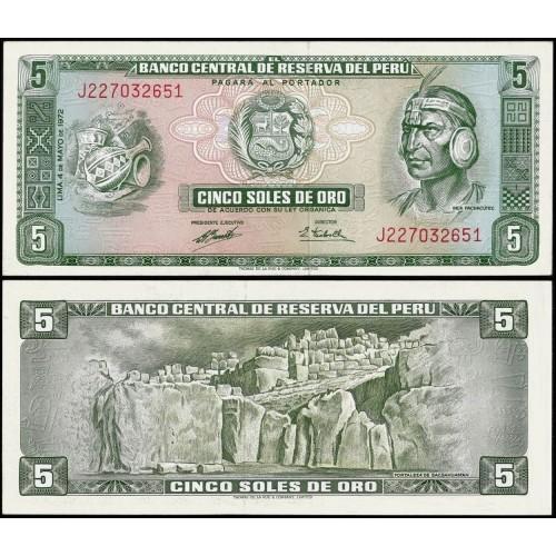 PERU 5 Soles de Oro 1972