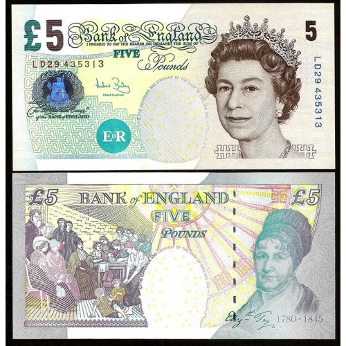 GREAT BRITAIN 5 Pounds 2004