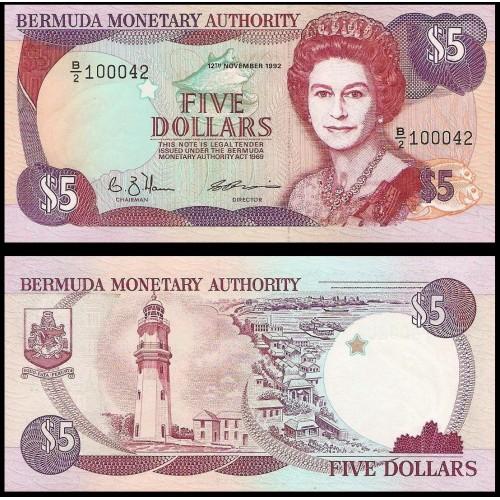 BERMUDA 5 Dollars 1992
