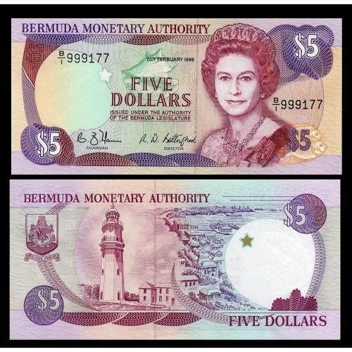 BERMUDA 5 Dollars 1989