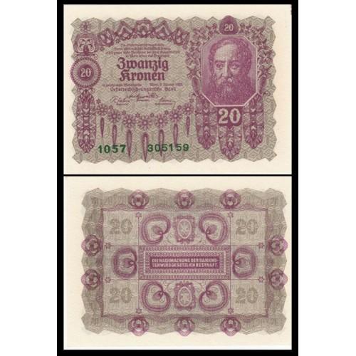AUSTRIA 20 Kronen 1922