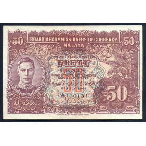 MALAYA 50 Cents 1941