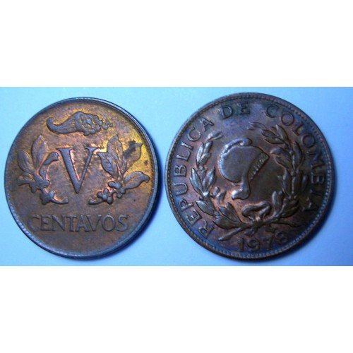 COLOMBIA 5 Centavos 1978