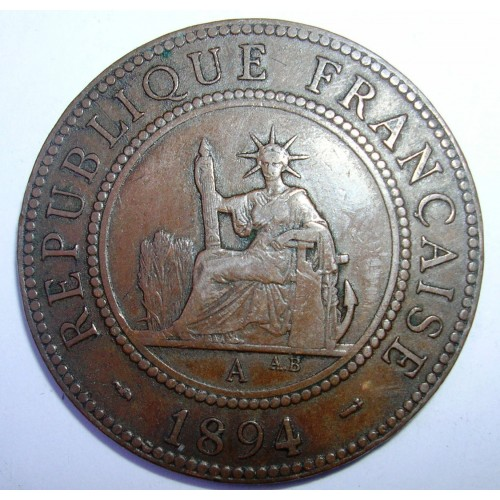 FRENCH INDOCHINA 1 Cent 1894