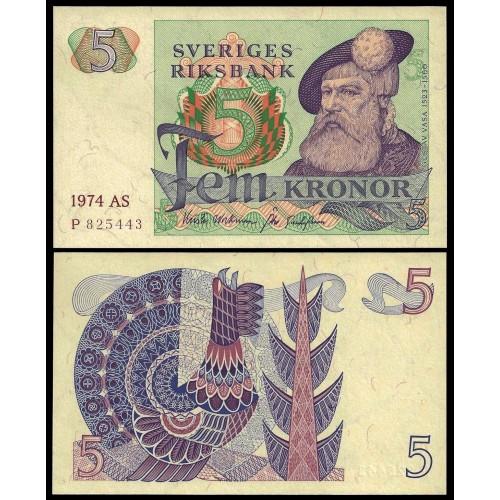 SWEDEN 5 Kronor 1974