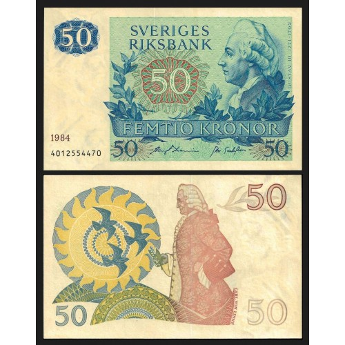 SWEDEN 50 Kronor 1984