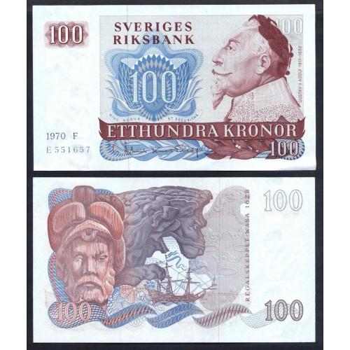SWEDEN 100 Kronor 1970