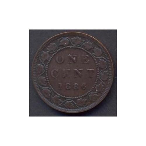 CANADA 1 Cent 1886