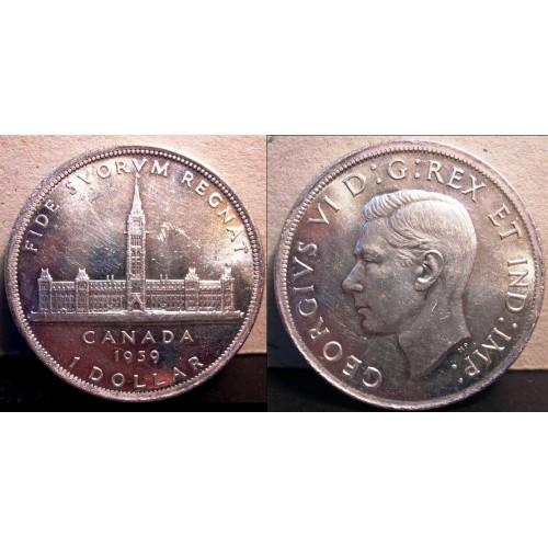 CANADA 1 Dollar 1939 AG...