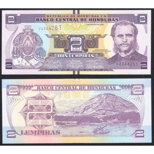 HONDURAS 2 Lempiras 2012