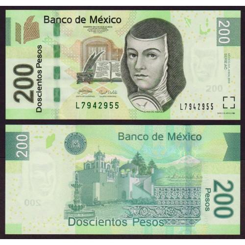 MEXICO 200 Pesos 2010 Serie AC