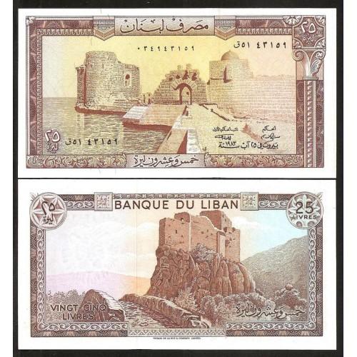 LEBANON 25 Livres 1983