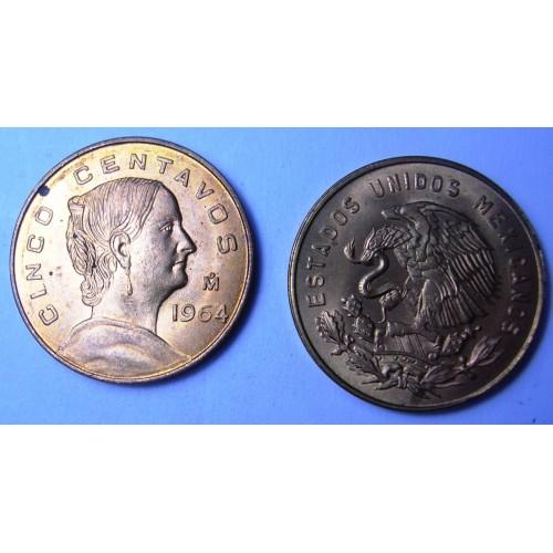 MEXICO 5 Centavos 1964