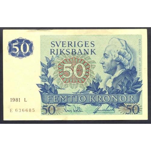 SWEDEN 50 Kronor 1981