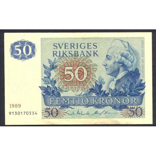 SWEDEN 50 Kronor 1989