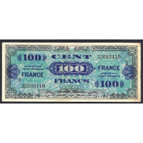FRANCE 100 Francs 1944 Block 5