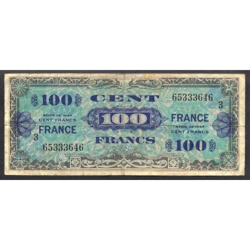 FRANCE 100 Francs 1944 Block 3