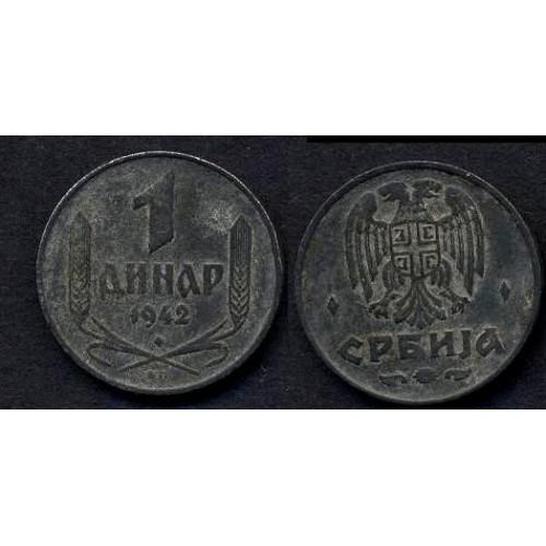 SERBIA 1 Dinar 1942